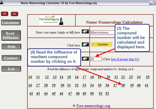 Numerology calculator according to date of birth